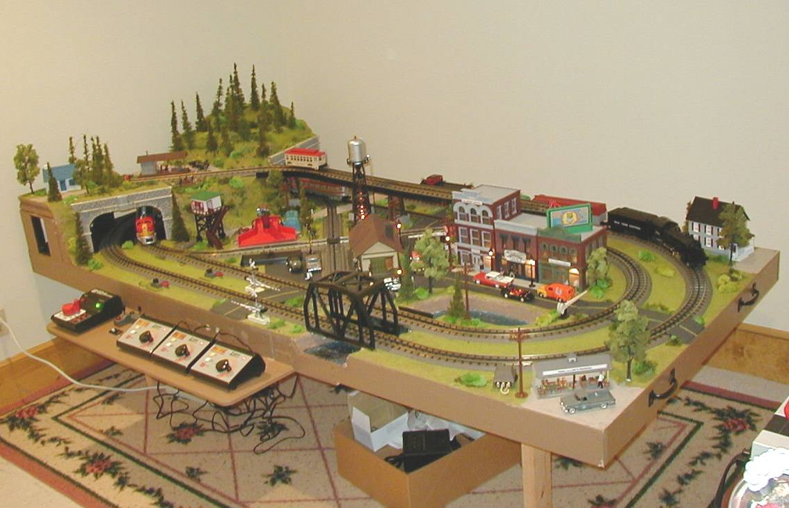 HO Scale Model Railroad Trains Layout.